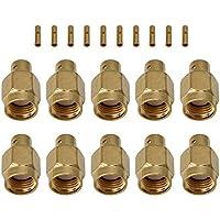 Yibuy RG402 - Conector coaxial Macho para Soldadura RP-SMA (10 Unidades)