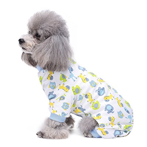 tüme Outfit Little Blue Horse Pattern angenehm Puppy Schlafanzug weich Hund Jumpsuit Shirt Best Geschenk 100% Baumwolle Mantel für kleine und mittlere Hunde (Ideen Für Halloween-kostüme Für Hunde)