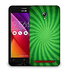 Snoogg Abstract Green Design Designer Protective Phone Back Case Cover For Asus Zenfone Go