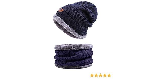 Back Packers unisex berretto invernale caldo cappello sciarpa set sciarpa  spessa maglia cappello caldo pile foderato Marina Militare  Amazon.it   Cancelleria ... e9a7618347a0