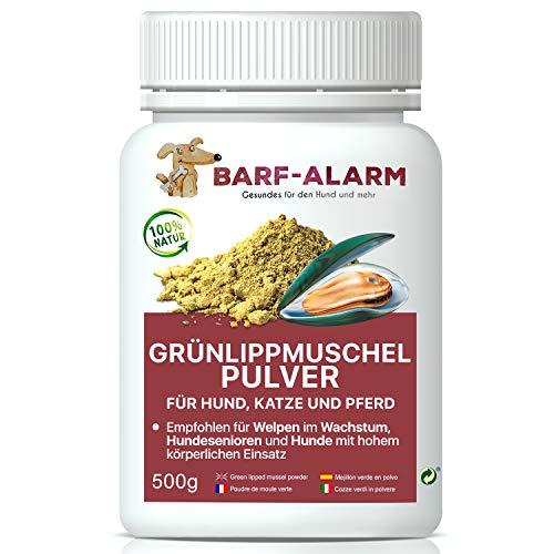 barf-alarm 100% Grünlippmuschelpulver für Hunde 500g - Natürliches Grünlippmuschelextrakt Hunde Perna Canaliculus - Grünlippmuschel Hund Barf Pulver