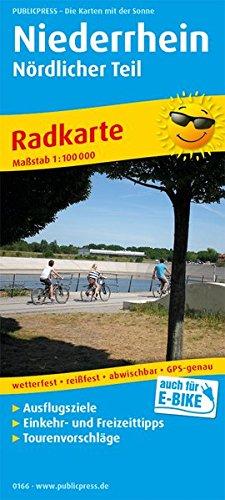 Niederrhein - Nördlicher Teil: Radkarte mit Ausflugszielen, Einkehr- & Freizeittipps, wetterfest, reissfest, abwischbar, GPS-genau. 1:100000 (Radkarte / RK)