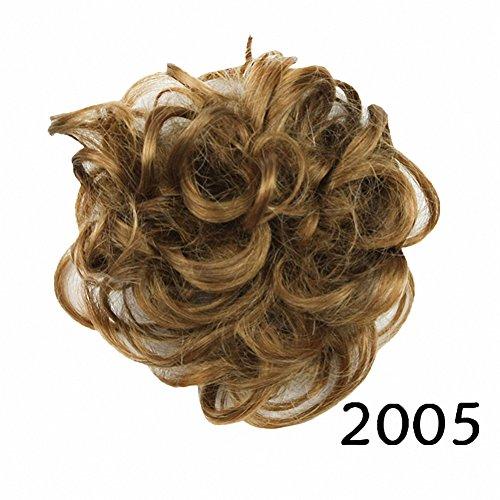 prettywit Haarteil für einen unordentlichen Dutt, für Haarknoten/Chignon, Haarteil für Damen, für Brautfrisuren, verschiedene Haarfarben (Micro Mit Top Tie)