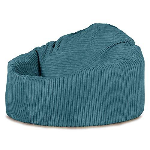 Lounge Pug, \'Mini-Mammoth\' Sitzsack, Sessel, Cord Türkis
