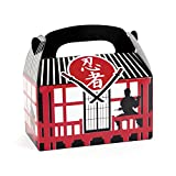 Ninja Faltboxen 12 Stück Mottoparty Geschenkboxen Mitgebsel Gastgeschenke Palandi®