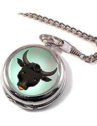Cabeza de toro a Hunter reloj de bolsillo