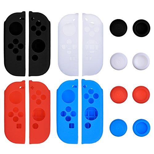 hotop-4-colori-silicone-caso-con-4-paia-pollice-antiscivolo-stick-caps-gel-guardie-per-joy-con-kit-d