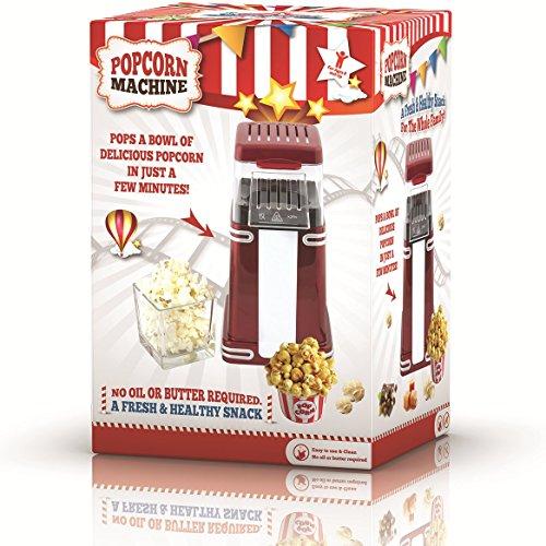 Gadgy ® Maquina de Palomitas | Palomitero Vintage | Aire Caliente Sin Grasa Aceita