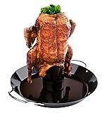 WELLGRO® Hähnchenbräter - Hähnchen Ständer - Bräter - Hähnchen Grill