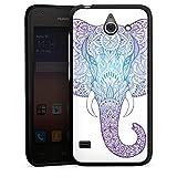 DeinDesign Huawei Ascend Y550 Hülle Schutz Hard Case Cover Elefant Mandala Ornamente