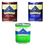 Blue Buffalo Homestyle Recipe Canned Dog Food Pack 12.5 oz x 12 cans - Lamb Dinner, Chicken Dinner and Beef Dinner by Blue Buffalo