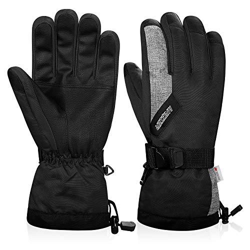 guanti sci uomo coskefy Guanti Invernali Guanti Sci Impermeabili da Uomo e Donna Guanti Neve Termico Antivento Sottoguanti Sci Termici con 3M Thinsulate Isolation Ski Gloves