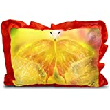 Sleep Nature's Baby Pillow For Kids|Soft Baby Pillow|Rectangle Shape|Soft Toys|Cartoon Printed|Red Colour Pillow|Pillow Size 14x20 Inches|132