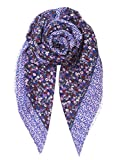 Becksöndergaard Tuch Damen Blumen Druck | Schal Isabis in Lila (Purple) aus Weicher Leichter Baumwolle | Rechteckig Groß 190x100 cm - 1807604001-315