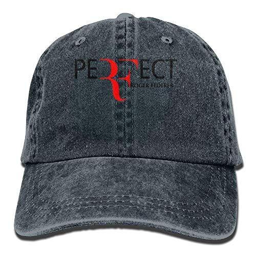 Wdskbg Katie P. Hunt Roger Federer Unisex Plain Cool Adjustable Denim Baseball Cap Multicolor1 -