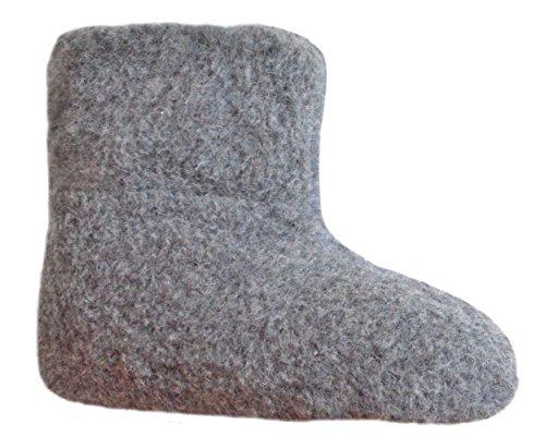 SamWo,Fußwärmer Hausschuhe aus 100% Schafwolle, Größe: 35-48 Graphit