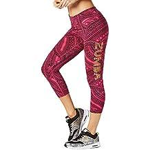 Zumba Fitness Zumba All Day Capri Leggings mujer pantalones, todo el año, mujer, color Shocking Pink, tamaño medium