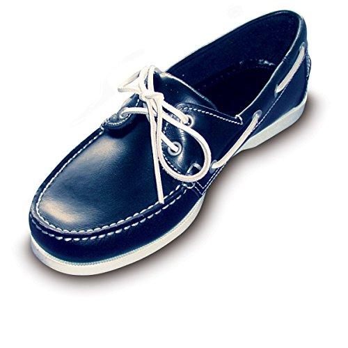 Navyline Herren Bootsschuh 2-Eye Classic Blue, Größe:44