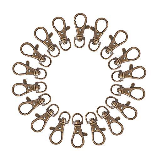 PandaHall Eilte Karabinerhaken Swivel Auslöser Clips Split Key Ring Ketten Entdeckungen Antike Bronze 35x13mm Loch 6mm 50 STK