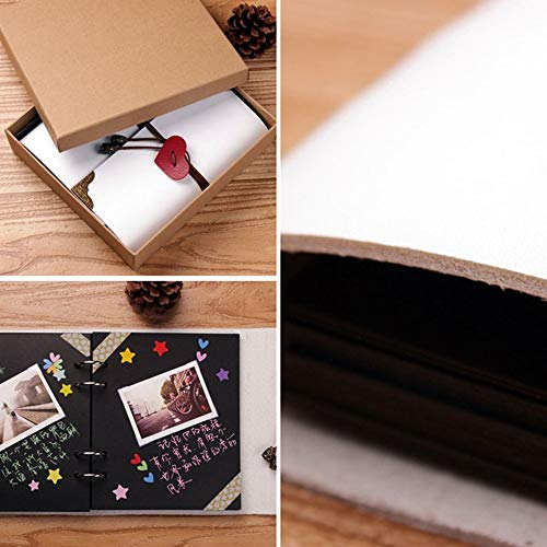 SAIBANG DIY Album Wedding LOVE Design Scrapbook Vintage Photo Album Anniversary Scrapbook DIY Photo...