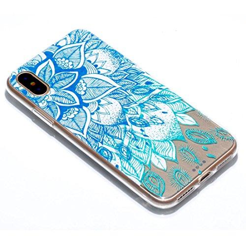 iPhone 8 Custodia, Copertura per iPhone 8, Case Cover protettiva antiurto per silicone per iPhone 8 4.7 , Soft TPU Bumper-Clear (8G-TPU) - Ragazzo ragazza bacio Set 9