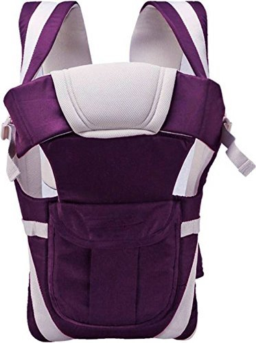 Toyboy 4-in-1 Baby Carrier with Comfortable Head Support - (Purple)