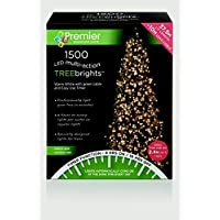 Premier Decorations - 1500 Multi Action TreeBrights LED Lights with Timer - Warm White