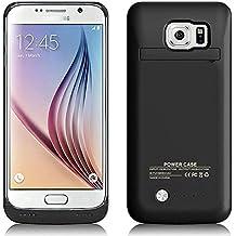 """MPTEK @ Negro Externos 4200mah batería Funda Cargador Para Samsung Galaxy S6 Edge samsung S6 edge G925 G925A G925F 5,1"""""""