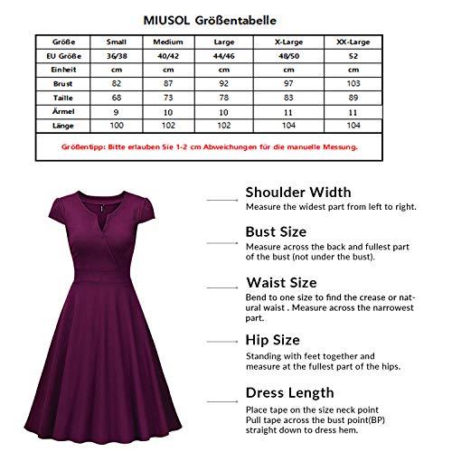 Miusol Cocktailkleid 50er Jahre Vintage Style Swing A-Linie Abendkleid - 3