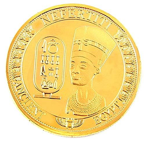 egipcio Moneda de réplica Moneda conmemorativa Chapado en oro Pirámide Egipto