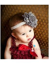 Bandeau cheveux bébé/fille, gris