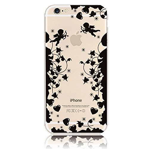 "Coque iPhone 6 Plus 5.5"" Ultra-Mince Silicone TPU Gel Transparent Souple Etui Housse Sunroyal® Apple iPhone 6 Plus / 6s Plus (5.5 Pouces) Case de Protection Spécial Back Cover Anti-Choc Bumper - Floco TPU Case 02"