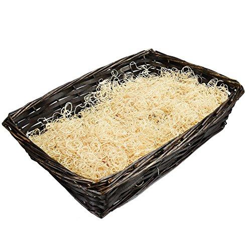 Asab cesto regalo kit per pasqua, natale, compleanno, festa della mamma | scegli il cestino di vimini (2versioni disponibili), deluxe kit decorazione o entrambi–by choco rettangolo cestino