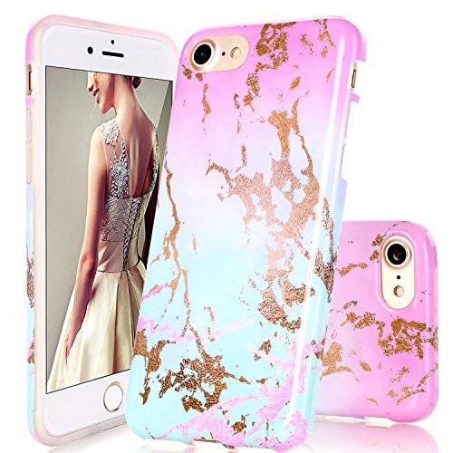 iPhone 6Plus Case, iPhone 6S Plus Fall, doujiaz Marmor Design Transparent Bumper TPU Soft Case Gummi Silikon Skin Cover für Normale 11,9cm iPhone 66S Plus, Dream Mint