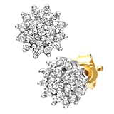 Naava Women's 0.25 ct Diamond Cluster 9 ct Yellow Gold Earrings Bild