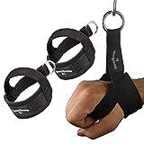 1 Paar Einhand Kabelzug Griffe inkl. 1 Paar Karabinerhaken / Trainings Griff / Latzug Einhandgriff