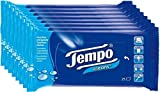 Tempo Feuchte Taschentücher Cleans, Reinigungstücher für unterwegs, 8er Pack (8 x 25 Tücher)