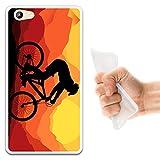 WoowCase Doogee Y300 Hülle, Handyhülle Silikon für [ Doogee Y300 ] Radfahren Fahrrad Berg Handytasche Handy Cover Case Schutzhülle Flexible TPU - Transparent