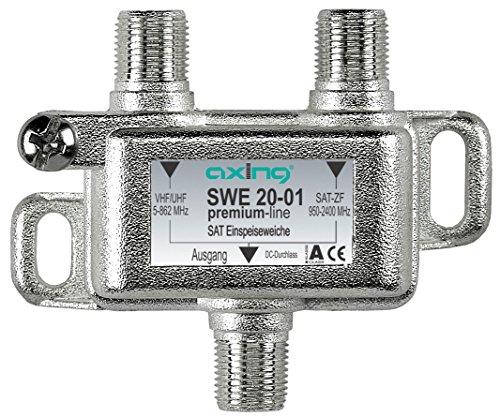 Axing SWE 20-01 Satelliten-Einspeiseweiche zum Zusammenschalten von terrestrisch und Single LNB auf einen Ausgang