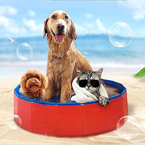 Farm & Ranch Tragbar Faltbar Hunde Katzen Baden Wanne Badewanne Waschen Badewanne Pet Schwimmbad Wasser Teich -