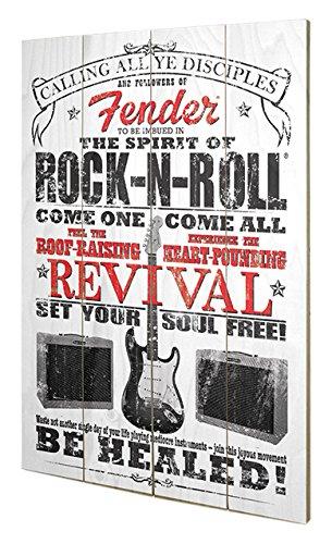 Pyramid International sw11397p Fender (The Spirit Of Rock N 'Roll) legno da parete in, legno, multicolore, 40x 2,5x 59cm