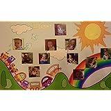 Bild gemalt auf Leinwand 50x70, die die ersten 12 Monate des kleinen Lebens.