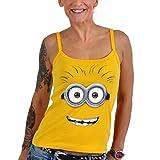 Einfach Unverbesserlich - Goggle Face Girlie Strap Top Minion Fan Shirt Baumwolle gelb - L