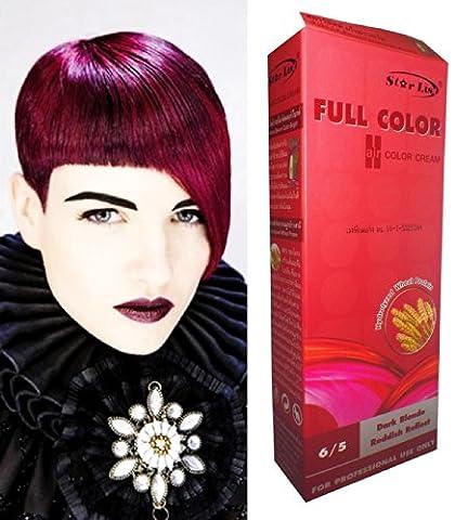 Permanente Haarfarbe Tönung Coloration Haar Cosplay Gothic Punk Dunkelblond ROT Reflekt 6/5