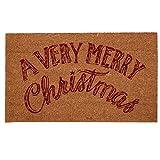 Clayre & Eef VMCMC Very Merry Christmas Fußmatte Türmatte Kokosmatte ca. 75 x 45 cm