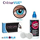 ColourVUE 14MM Crazy Lens Sky Blue Color...
