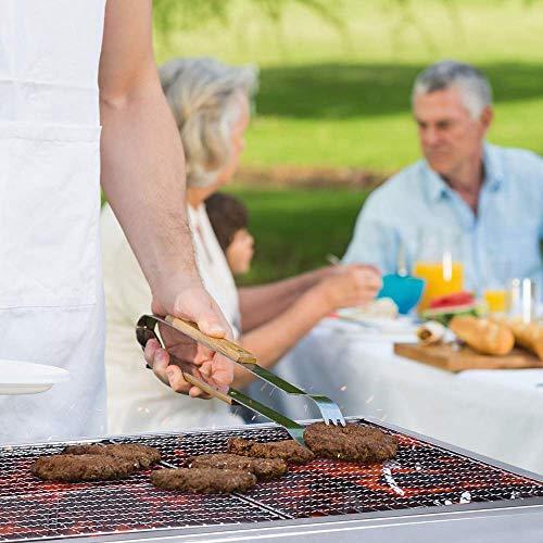Mbuynow Barbecue Griglia a Carbone Professionale per 5-10 Persone, Utensile BBQ Grill Barbecue Carbone Pieghevole per Picnic con Gli Amici, Riunione di Famiglia in Balcone e Giardino, Campeggio ECC - 6