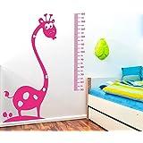 IDEAVINILO - vinilo decorativo infantil medidor de girafa con arbolitos. Medida: 60 x 135 cm