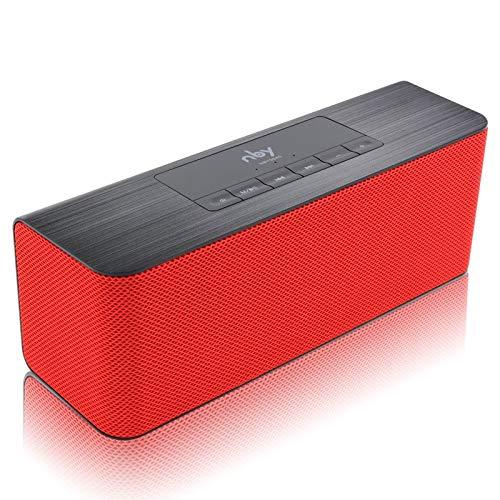 JSGJLYQQ Kleiden NBY 5540 Bluetooth-Hochgeschwindigkeits-Steckdose Vielseitig einsetzbar Filiale und weitere Informationen Doppelter Doppelanschluss mit Mikrofonkarte von TF Altoparlanti Lettore MP3-Federazione russa,Red
