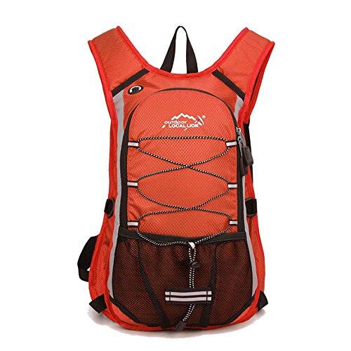 Minetom 12L Unisex Erwachsene Rucksack Camping Wandern Reisen Trekkingrucksäcke Wanderrucksäcke Taktischer Polyester Rainproof Orange
